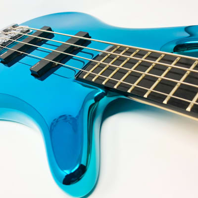 Warwick Custom Shop Turquoise Chrome Robert Trujillo for sale