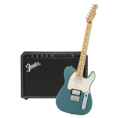 Fender Player Telecaster HH Tidepool Maple Neck & Fender Mustang GT 40 Bundle for sale