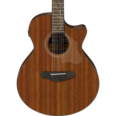 Ibanez AE2912LGS 12 String Solid Okoume Top Acoustic Electric Guitar