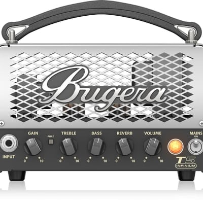 Bugera T5 Infinium 5-Watt Cage-Style Tube Amplifier Head with INFINIUM Tube Life Multiplier and Reve for sale