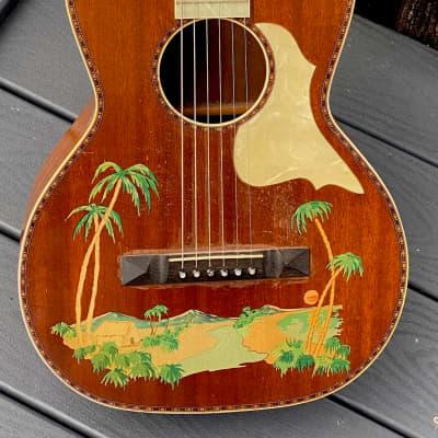 Stromberg Voisinet Stencil Guitar 1925 all original w/cool matching Celluloid Fretboard & Pickgard. for sale
