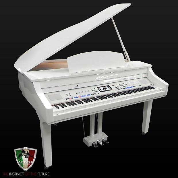 Medeli 1000 Digital Grand Piano - White Polish | Reverb