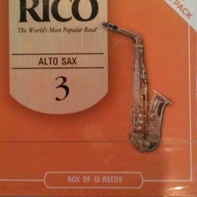 Rico Alto Sax Reeds 3-- 12-pack