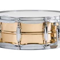 """Ludwig 5x14"""" Bronze Snare Drum 2010s Smooth image"""