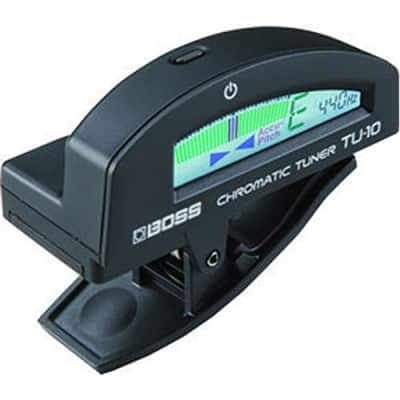 BOSS TU-10 BKC Clip-On Color Display Chromatic Instrument Guitar Bass Tuner