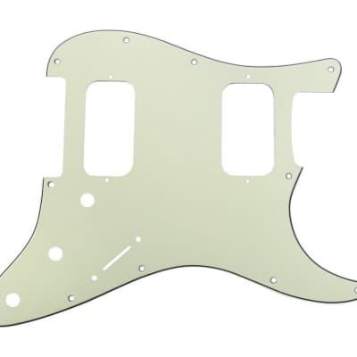 920D 3 Ply HH Pickguard S Style CNC Cut, Mint Green