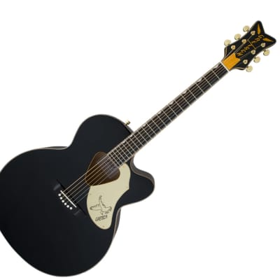 Gretsch G5022CBFE Rancher Falcon Jumbo Cutaway Acoustic Electric Black for sale