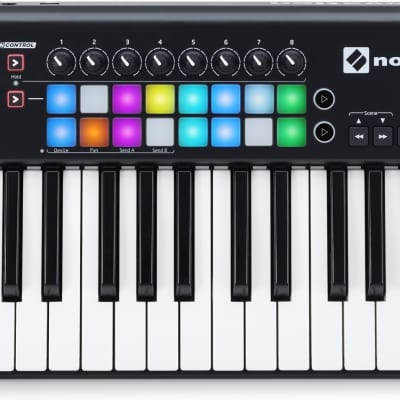 Novation LAUNCHKEY 25 MK2 25 Note Velocity Sensitive USB MIDI Keyboard Controller w/ 16 RGB Backlit Drum Pads