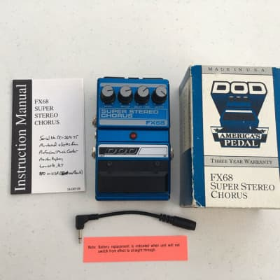 DOD Digitech FX68 Super Stereo Analog Chorus Rare Vintage Guitar Effect Pedal for sale