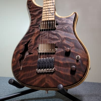 Barlow Guitars Falcon Semi-Hollow  2021 Sinker Redwood / Madagascar Rosewood for sale