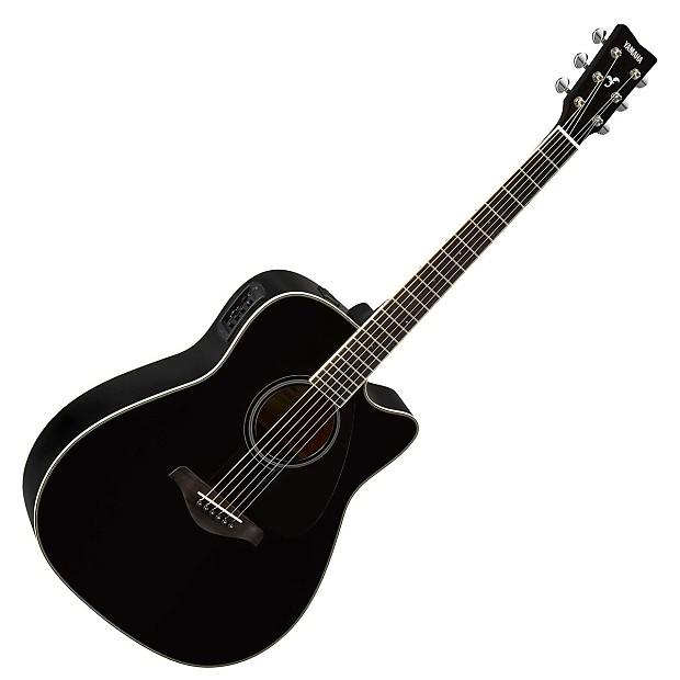 Yamaha Fgx820c Dreadnought Acoustic Electric Guitar Black Reverb