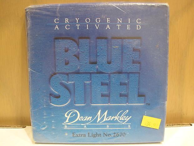 Dean Markley 2670 Blue Steel Cryogenic Extra Light Bass Strings