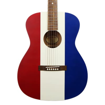 Recording King Bakersfield Limited Edition 000 - Red White & Blue image