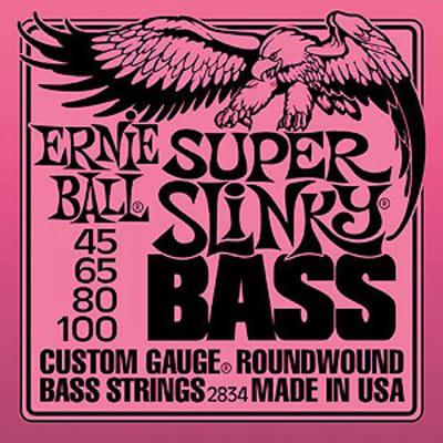 Ernie Ball 2834 Bass Super Slinky Round Wound Bass Strings 45-65-80-100