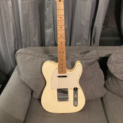Fender Standard Mexican Telecaster White Upgraded Worn 50s Alnico Tele Pickups MIM 2006 Gig Bag for sale