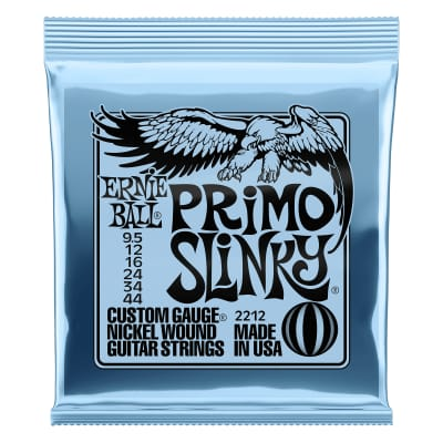Ernie Ball Primo Slinky Nickel Wound Electric Guitar Strings - 9.5-44 Gauge