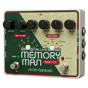 Electro Harmonix Deluxe Memory Man W/Tap Tempo 550ms Analog Delay Pedal for sale