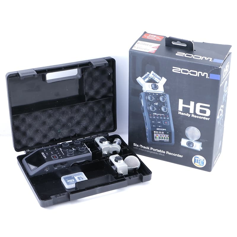 zoom h6 handy recorder w msh 6 xyh 6 microphones reverb. Black Bedroom Furniture Sets. Home Design Ideas