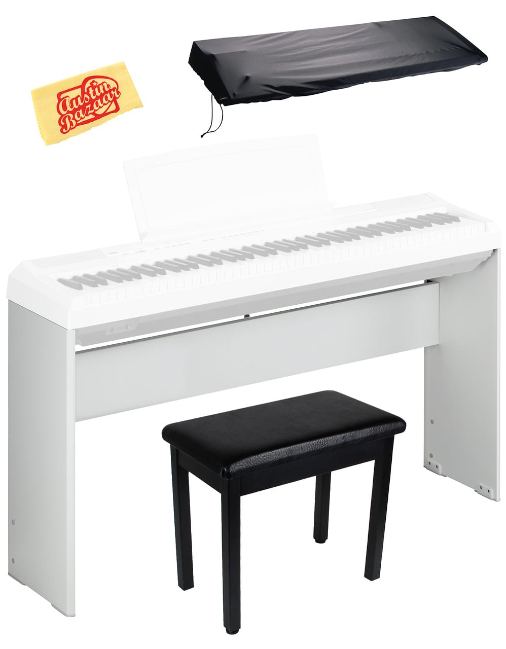 Yamaha l85wh digital piano stand for p35 p85 p95 p105 for Yamaha p 35 digital piano
