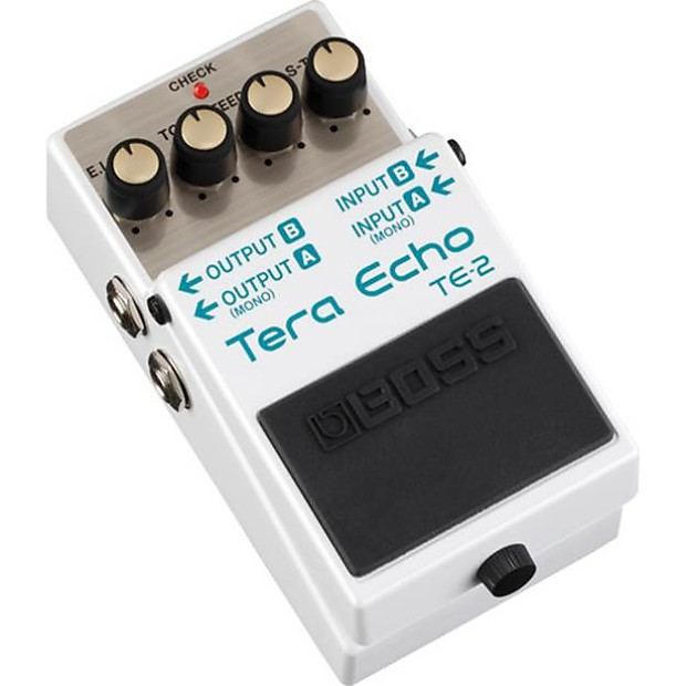 BOSS TE-2 Tera Echo Reverb DSP Chip Guitar Effects Pedal + 2 FREE PATCH  CABLES