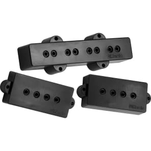 DiMarzio DP126BK Model P + J Neck and Bridge Bass Pickup Set - Black