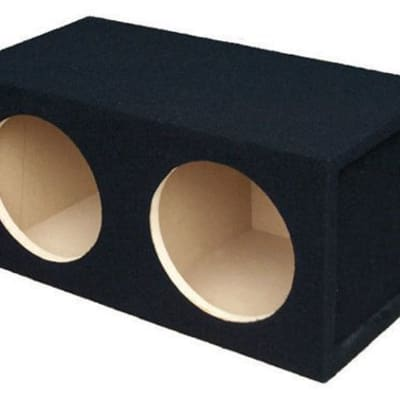 Absolute USA DSS12 Dual 12-Inch, 3/4-Inch MDF Sealed Subwoofer Enclosure with Ab