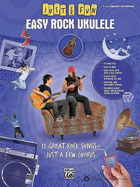 Just For Fun Easy Rock Ukulele 12 Great Songs Just A Few Reverb