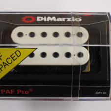 DiMarzio F-spaced PAF Pro Humbucker White W/Black Poles DP 151