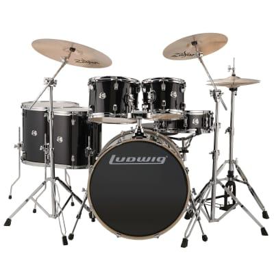 "Ludwig Element Evolution 8x10 / 9x12 / 14x14 / 16x16 / 18x22 / 5x14"" Drum Set"