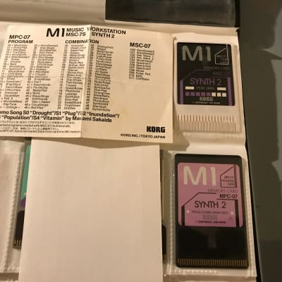 Korg M1/M1R 1989 Synth 2  card set for M1/M1R