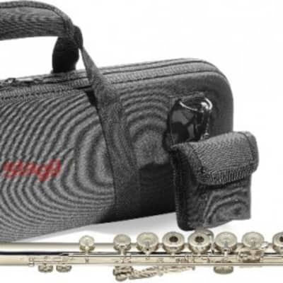 Stagg WS-FL261S Open Holes In-Line G B-Foot Joint Flute w/Case, Cleaning Swab, Cloth & Gloves