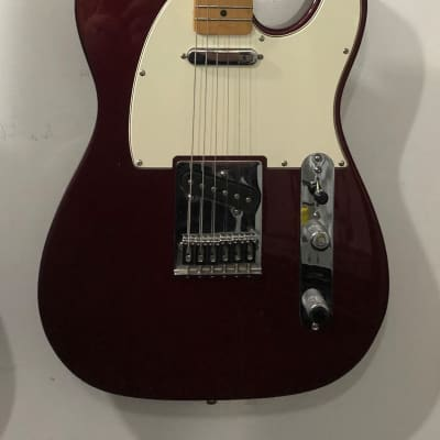 Fender  Telecaster Standard with Locking Tuners & SKB Hard Case 2009 Cimarron Red W/ White Pick Guard for sale