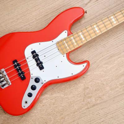 1994 Fender Jazz Bass '75 Vintage Reissue Fiesta Red w/ Blocks & Binding, Japan MIJ Fuijgen for sale