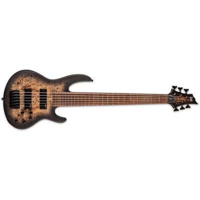 ESP LTD D-6 6 String Bass, Black Natural Burst Satin for sale