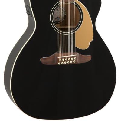 Fender Villager Player Acoustic Guitar 12-String V3 - Black with Walnut Fingerboard for sale