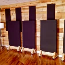 custom wheeled studio gobo panels 4 reverb