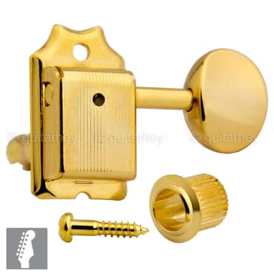 Gotoh SD91-05M 6-in-line Vintage Style Tuners Keys for Fender Strat Tele - GOLD for sale