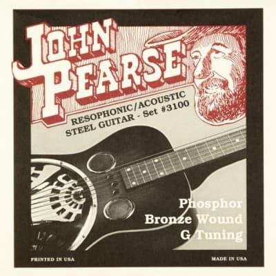 John Pearse 3100 Phosphor Bronze Resophonic Guitar Strings G Tuning 16-59