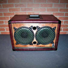 Diablo EarCandy Bailey 2x8 guitar amp speaker cab Trans Red Mahogany 50 watt 8ohm Hemp Cone speakers