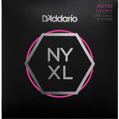 D'Addario NYXL45130 Nickel Wound Bass Guitar Strings 5-string Regular Light 45-130 Long Scale