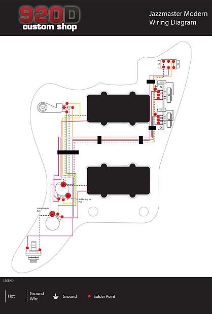 Fantastic Fender Modern Jazzmaster Guitar Pre Wired Wiring Harness 2V2T Reverb Wiring 101 Ziduromitwellnesstrialsorg