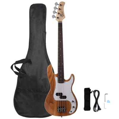 Glarry GP Electric Bass Guitar Burlywood for sale