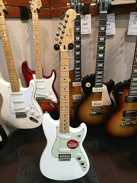 fender duo sonic 2016 olympic white wadsworth music reverb. Black Bedroom Furniture Sets. Home Design Ideas