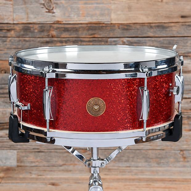 gretsch snare drum red sparkle 1950s used reverb. Black Bedroom Furniture Sets. Home Design Ideas
