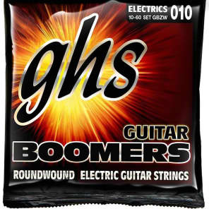 GHS GBZW Boomers Roundwound Electric Guitar Strings - Light Top/Heavy Bottom 10-60