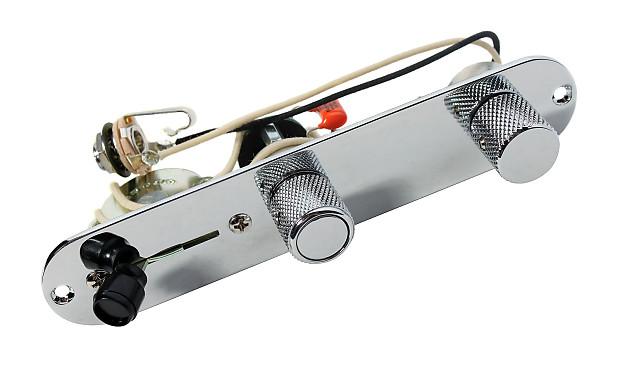 920d custom shop fender telecaster 4 way baja control plate w s1 switch chrome