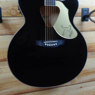 New Gretsch® G5022CBFE Rancher Falcon Jumbo Cutaway Acoustic Electric Guitar Black for sale