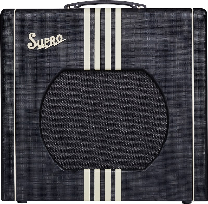 Supro 1822RBC Delta King 12 15W 1x12'' Guitar Tube Combo Amplifier Black & Cream