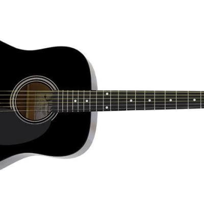 Aria Fiesta Series Dreadnought Acoustic Guitar in Black for sale