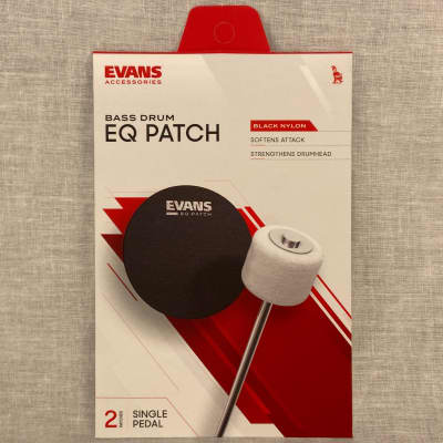Evans EQPB1 EQ Single Pedal Patch - Black Nylon